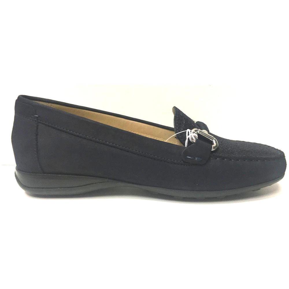GEOX Scarpe Mocassini Sandalo Donna Geox Original D6245d Pelle Blu Ai New Taglia 37 Colore Blu