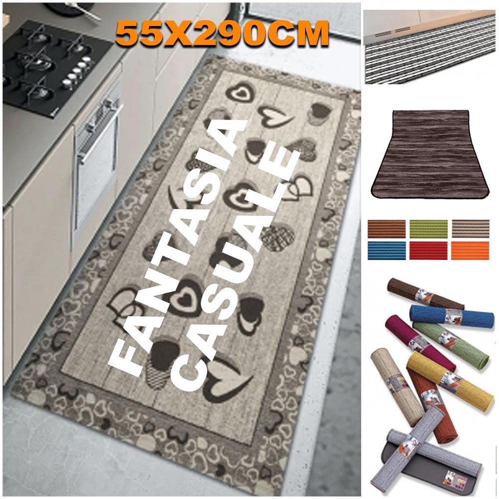 Tappeti Bagno Su Misura Torino trade shop tappeto antiscivolo fondo gomma 55x290 cm da cucina bagno  lavabile lavatrice