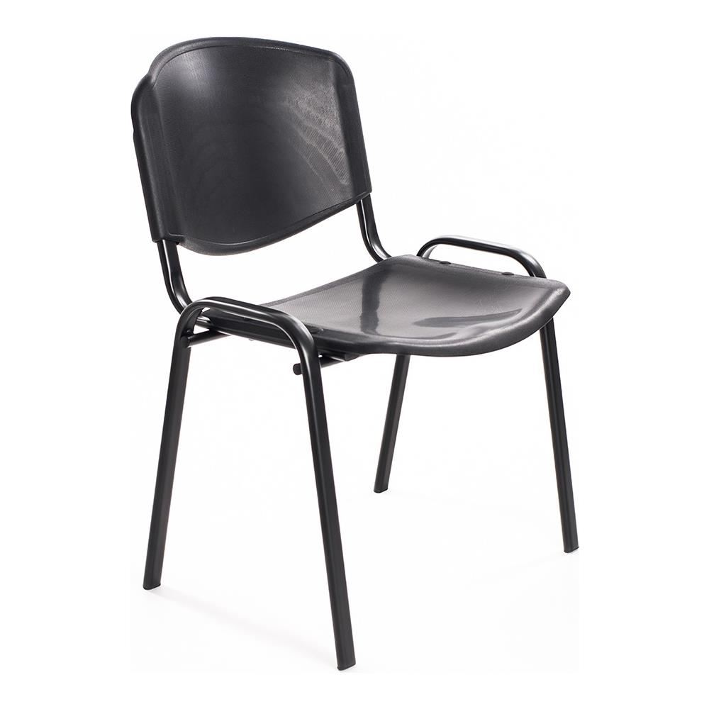 Sedie Ufficio Impilabili.Notek Set Di 6 Sedie Per Sala Attesa Ufficio Studio Conferenze Riunione Ospite Impilabili In Plastica Nera