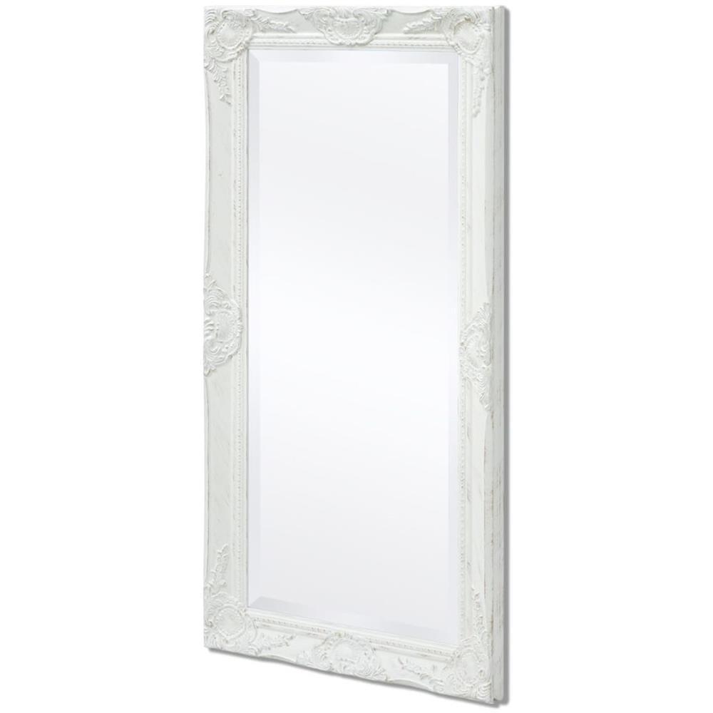 vidaXL Specchio Da Parete Stile Barocco 100x50 Cm Bianco