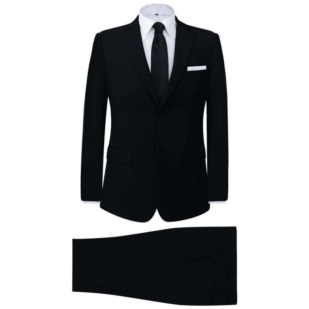 Vestiti Eleganti Taglia 50.Vidaxl Vestito Elegante Da Uomo 2 Pezzi Nero Taglia 50 Eprice