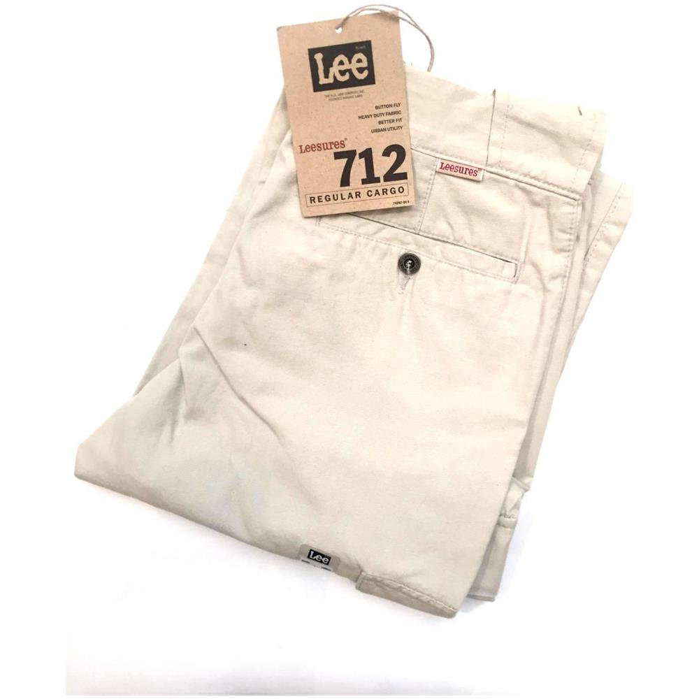 LEE Pantalone Jeans Pantaloni Uomo Leessures By Lee 712 4926 Cotone Original Ai New Taglia Us 31 35 Colore Grigio