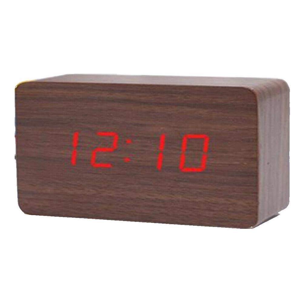 Arcamania sveglia orologio digitale led effetto legno con suono allarme e temperatura 1295
