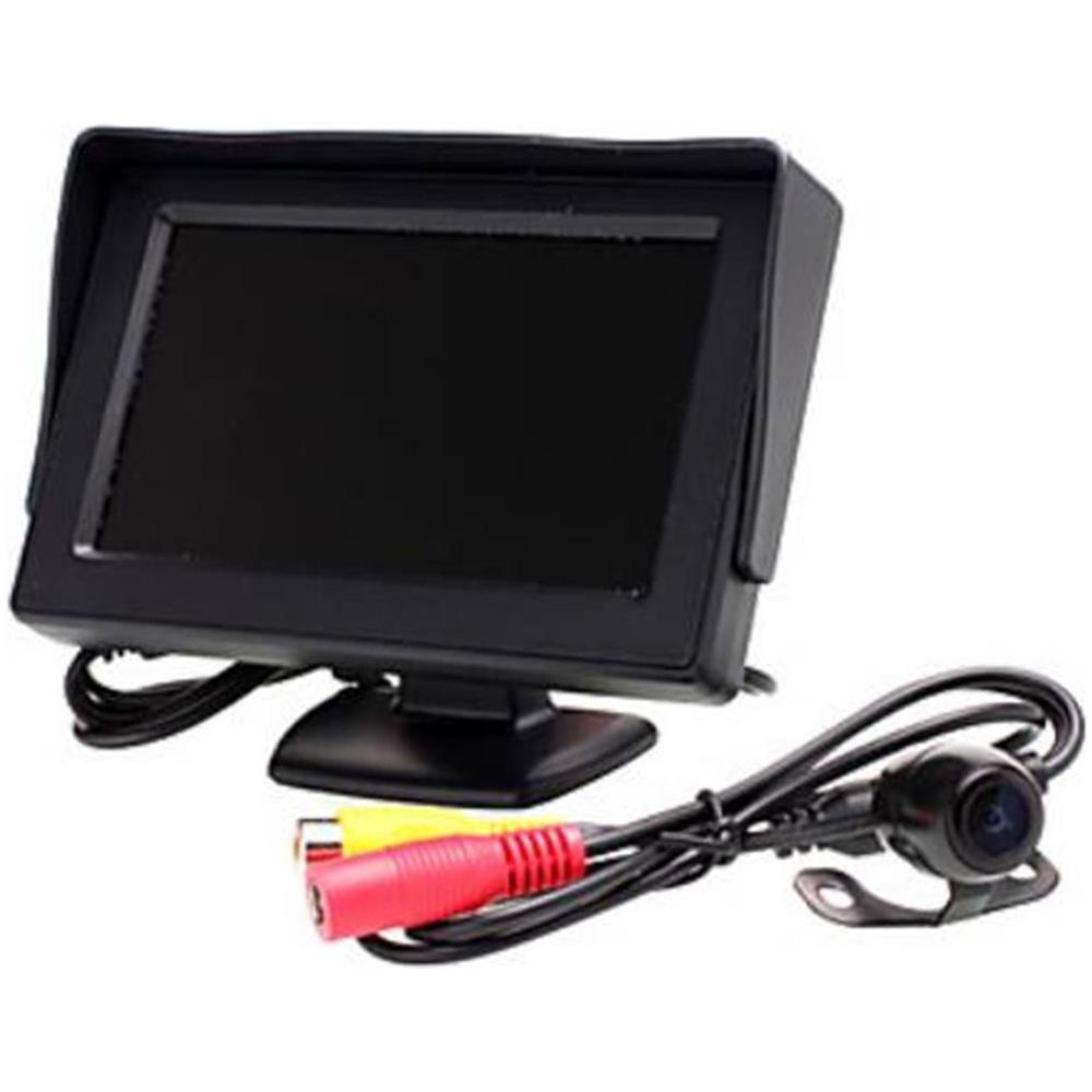 KIT MONITOR LCD TFT 4.3 VIDEO AUTO CAMPER CON TELECAMERA RETROMARCIA PARCHEGGIO