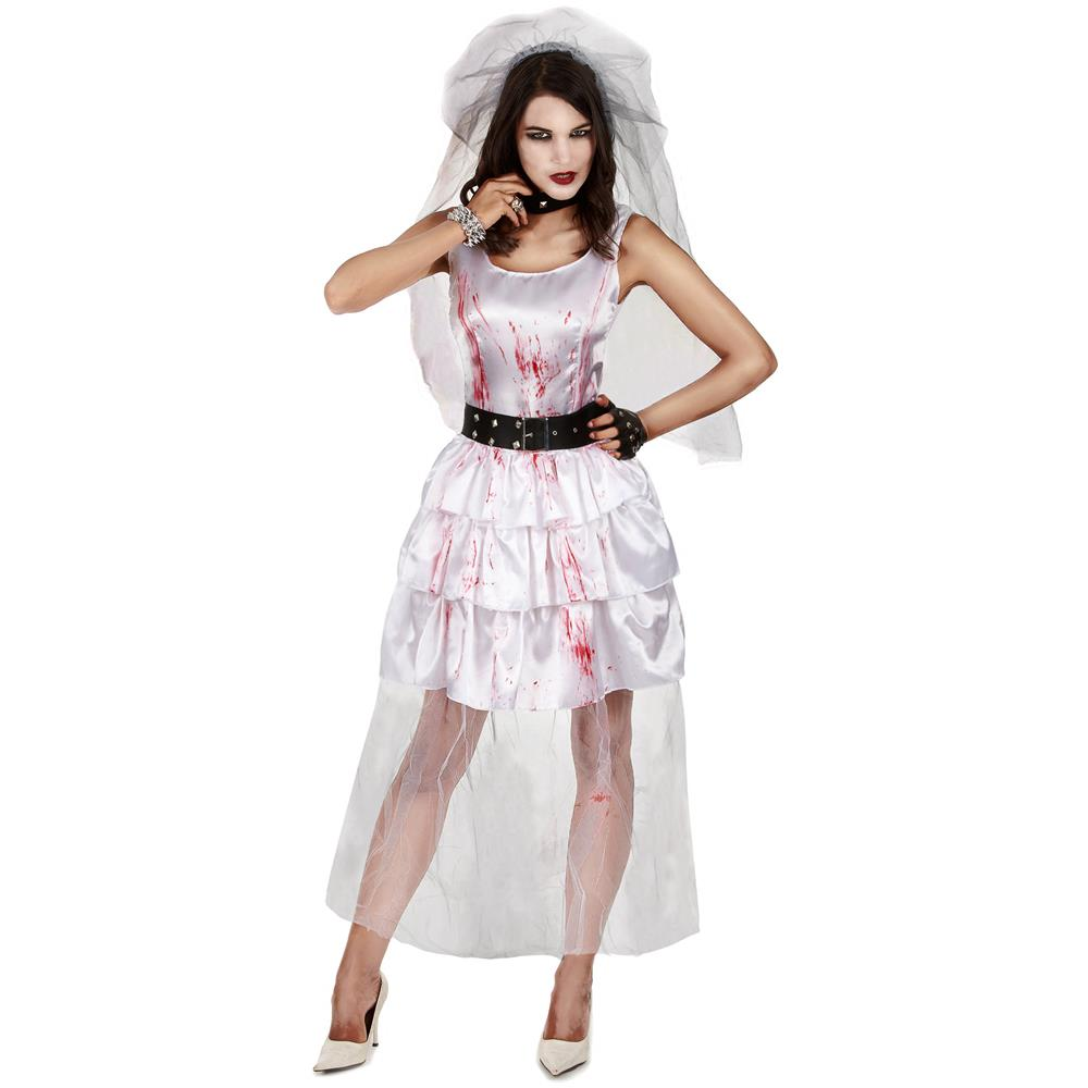 5d44766cfbfb JADEO - Costume Da Sposa Zombie Di Halloween Per Donna M   L - ePRICE