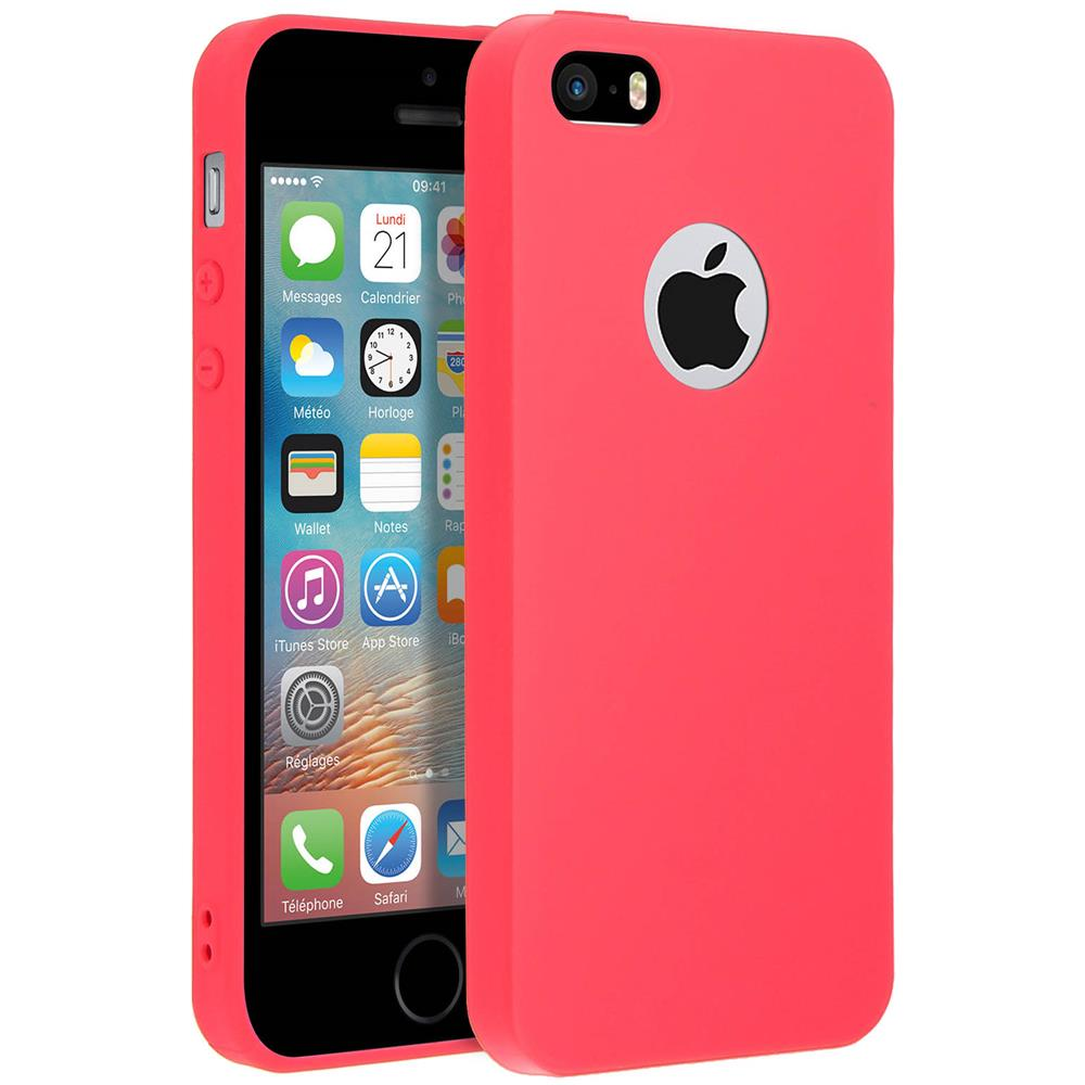 FORCELL Cover Iphone 5 / 5s / Se Soft Touch Silicone Gel Morbido - Rossa