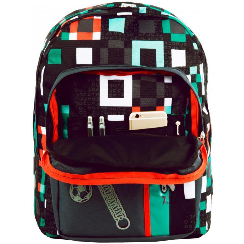 48560a1720 SEVEN Zaino Scuola Seven Outsize Bundle Boy-nero Verde -per Ragazzo