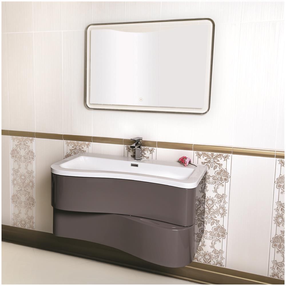 MARINELLIGROUP - - Mobile Bagno Sospeso Moderno 90 Cm Con Lavabo E ...