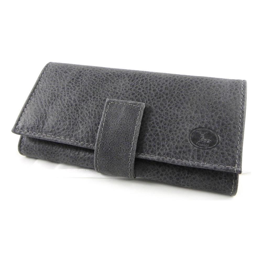 7a38863347 Frandi - portafoglio in pelle di grandi dimensioni '' grigio nabuk  antracite - [ h6407] - ePRICE