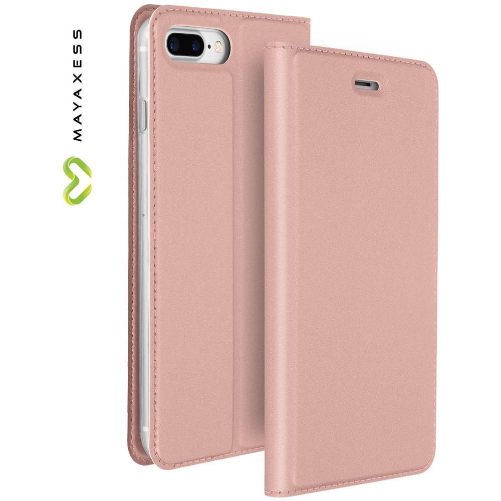 6832d5f0cd1 mayaxess - Custodia Per Apple Iphone 7 Plus E 8 Plus Rosa Funzione Stand -  Mayaxess Skin - ePRICE