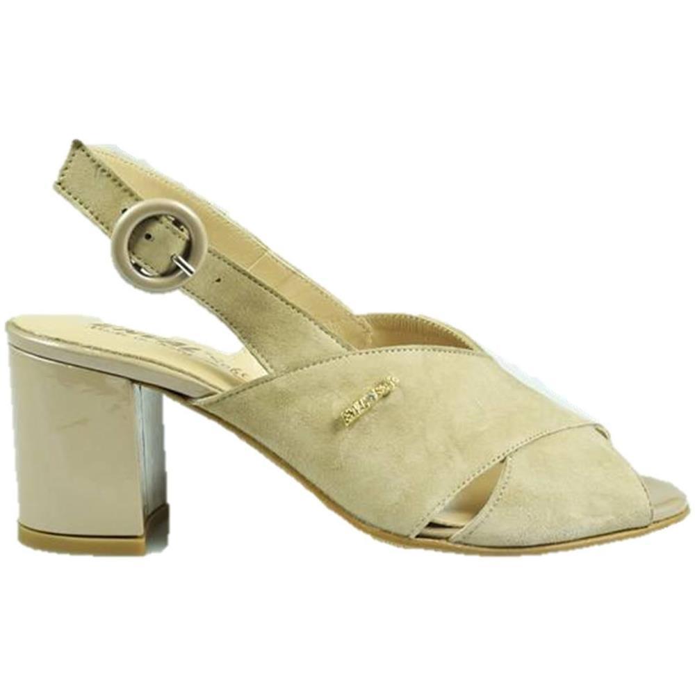 36 Soft Con Beige Pelle Enval Donna Tacco 3298644 Sandalo In O8n0NwPkX