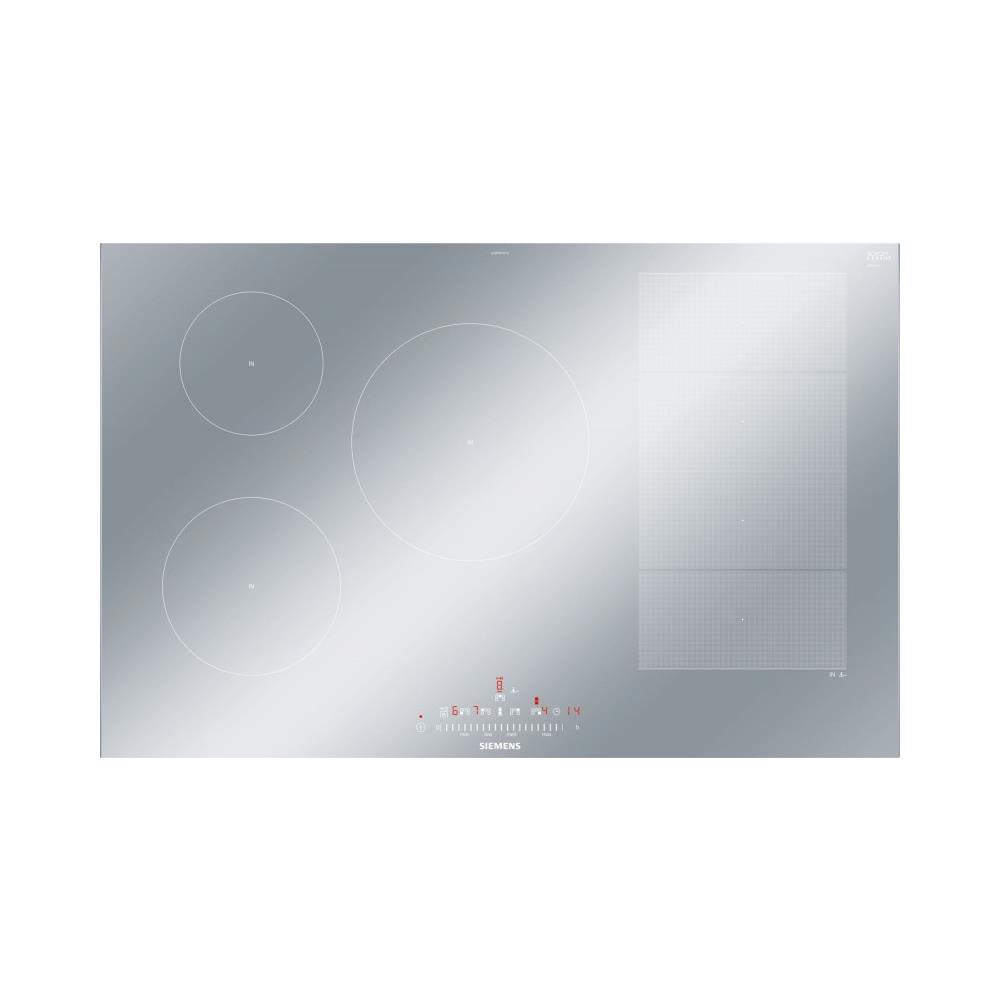 Siemens Piano Cottura EX879FVC1E a Induzione in Vetroceramica 5 Zone  Cottura da 88 cm Colore Argento