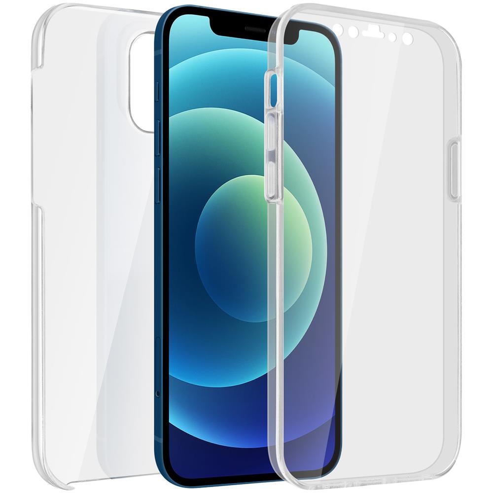 Avizar Cover Apple Iphone 12 Mini Silicone Fronte Retro Ricopre Lo Schermo Trasparente