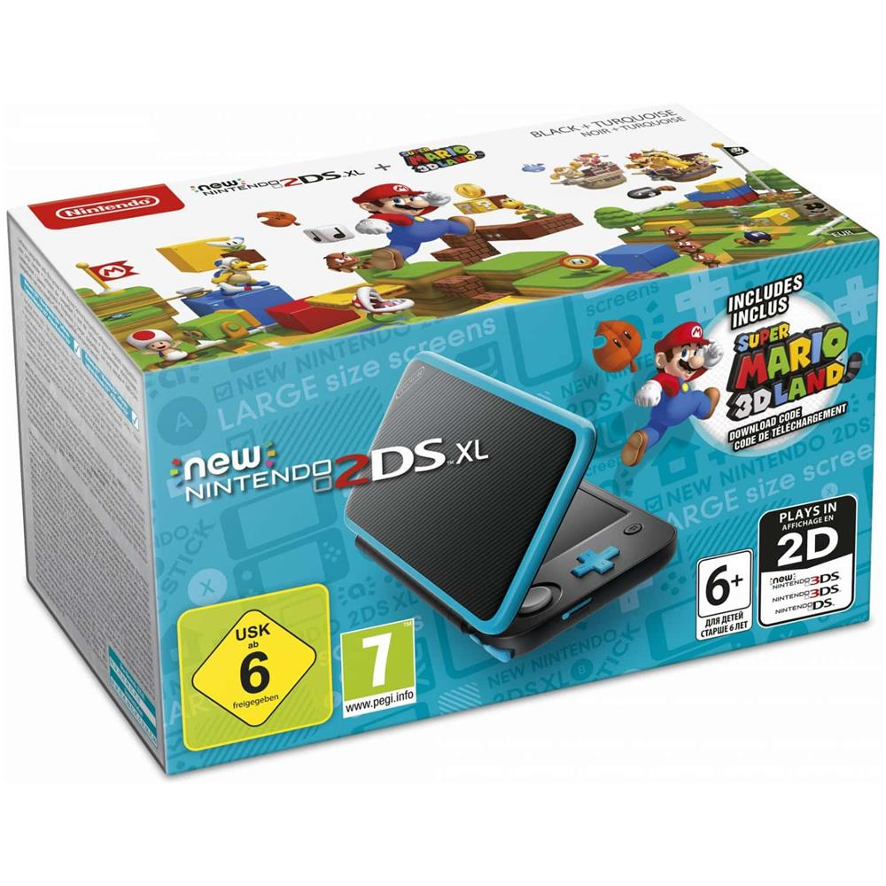 Console New 2DS XL + Super Mario 3D Land colore Nero / Turchese