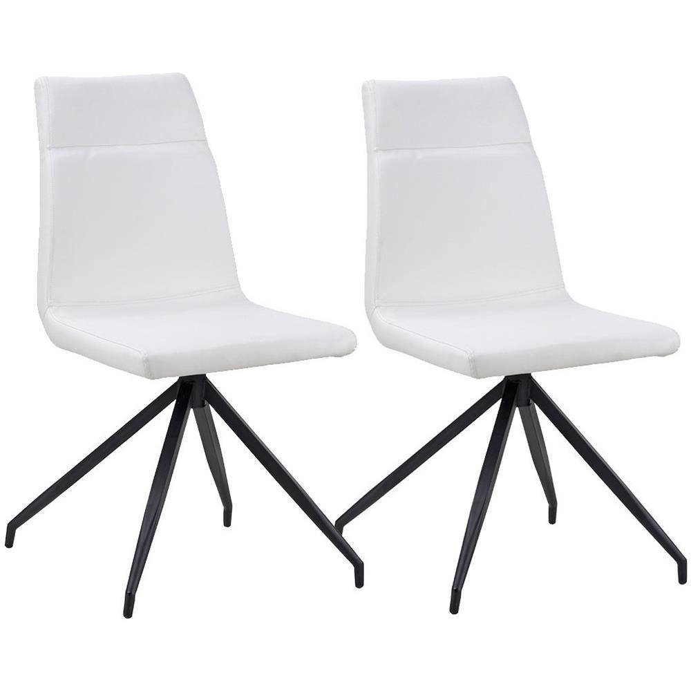 B.H.D - Tali - Set di 2 sedie moderne - Stile Pelle - Colore Bianco ...