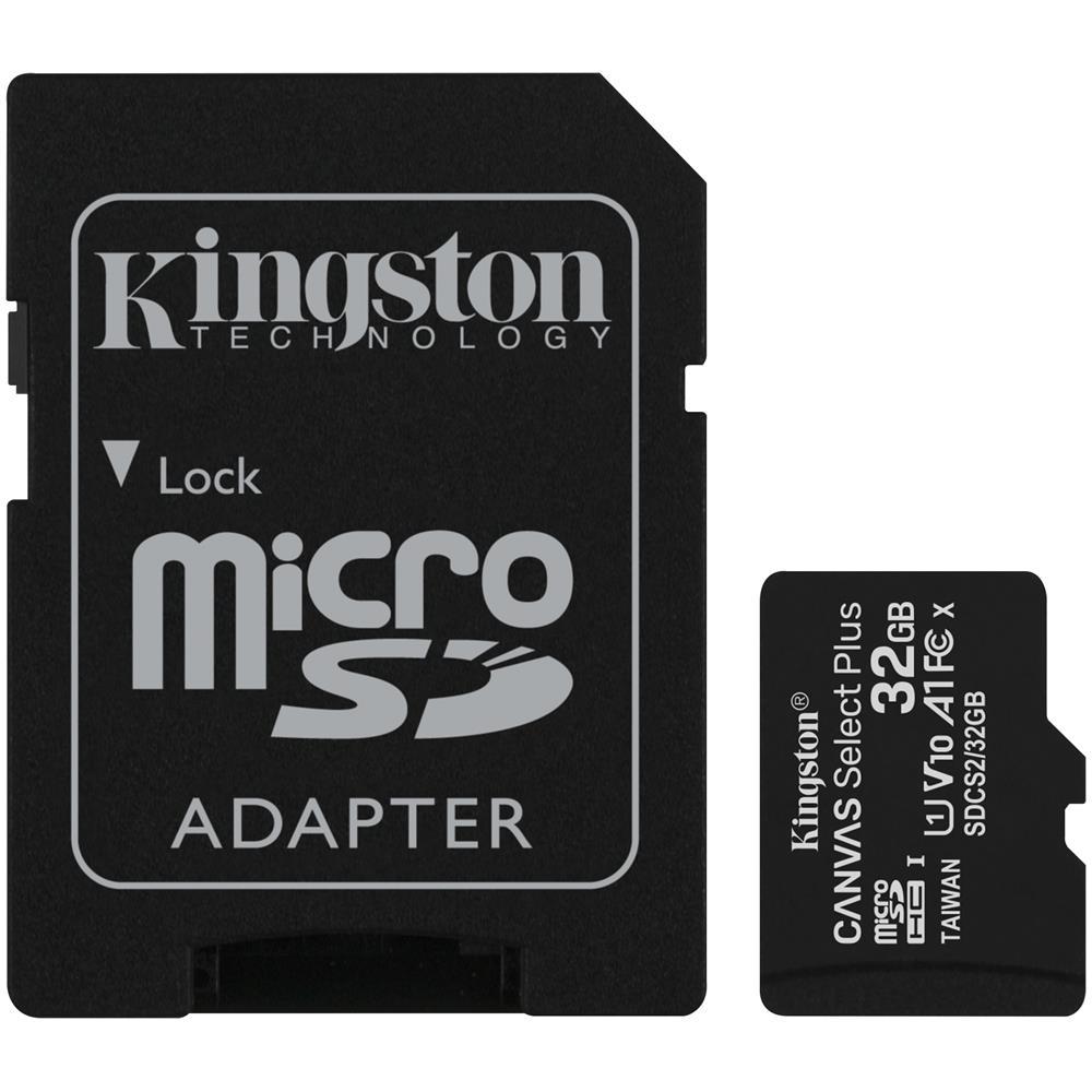 Kingston 32GB MICSD CANVASSELECTPLUS + ADP
