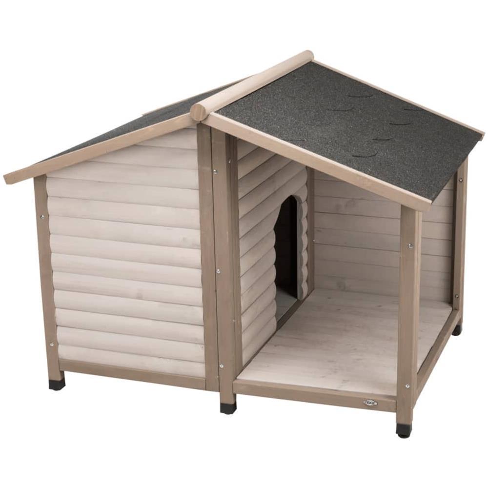 Cucce Design Per Cani trixie cuccia per cani con tettuccio a spiovente nature 100x82x90 cm