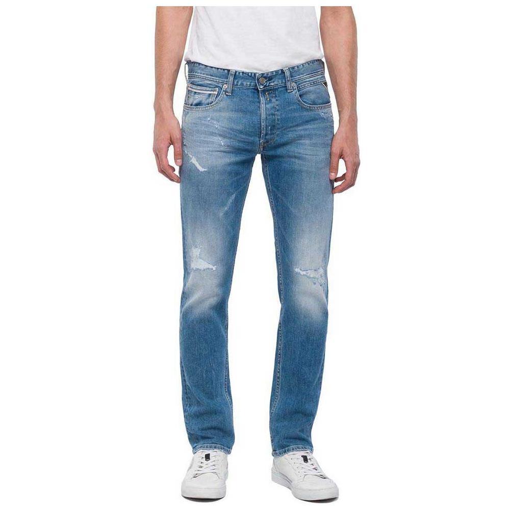 hot sale online db7cf 9b84a REPLAY Pantaloni Replay Grover L32 Abbigliamento Uomo W33-l32