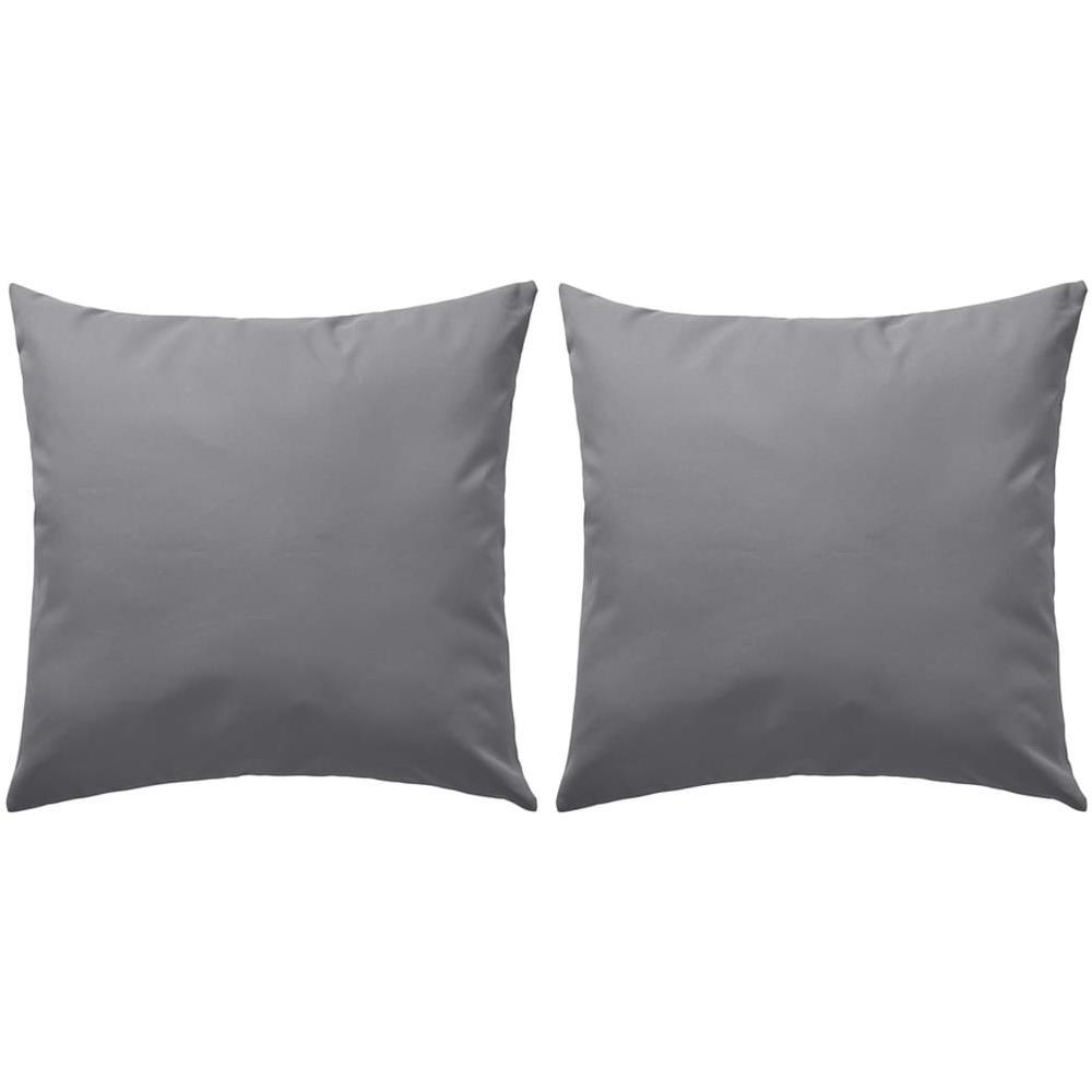 Cuscini Da Esterno Impermeabili vidaxl cuscini da esterno 2 pz 60x60 cm grigi