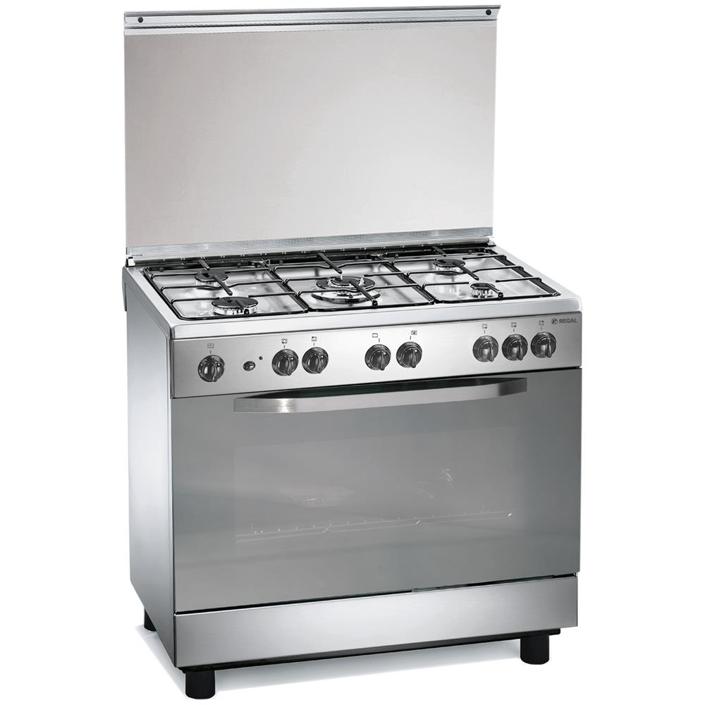 REGAL - Cucina RC965MX Piano Cottura a Gas 5 Fuochi Forno Elettrico ...