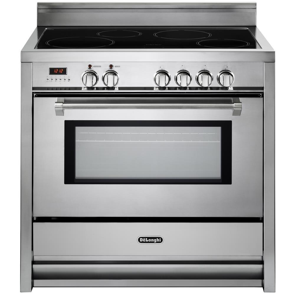 Cucina Elettrica PEMX 964 IN 4 Zone Cottura a Induzione Forno Elettrico  Classe A Dimensioni 90 x 60 cm Colore Inox