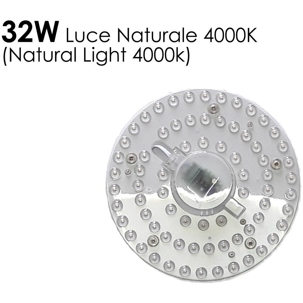 Equivalenza Lampade Led E Incandescenza.Avdistribution Piastra A Led Circolare 32w 4000k L Naturale X
