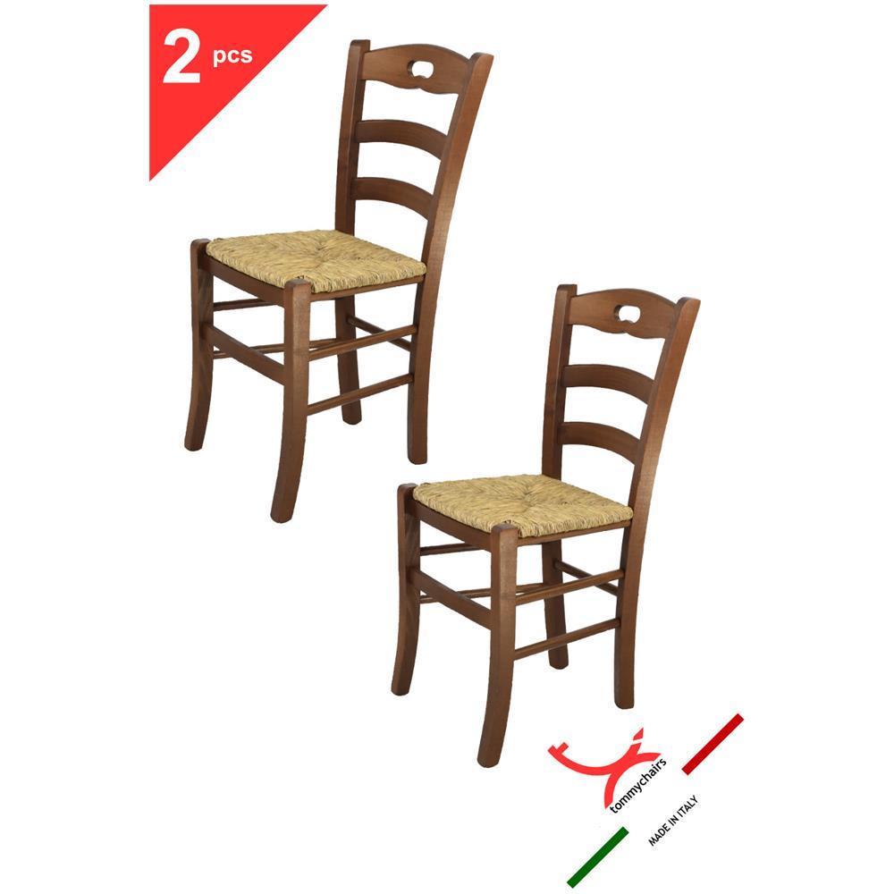 Tommychairs Sedie Di Design - Set 2 Sedie Modello Savoie Per Cucina E Sala  Da Pranzo, Dallo Stile Classico, Con Robusta Struttura In Legno Color Noce  ...