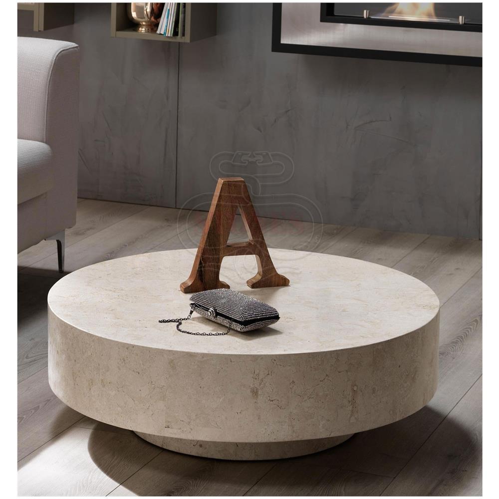 STONES Tavolino Da Salotto Rotondo Roun1