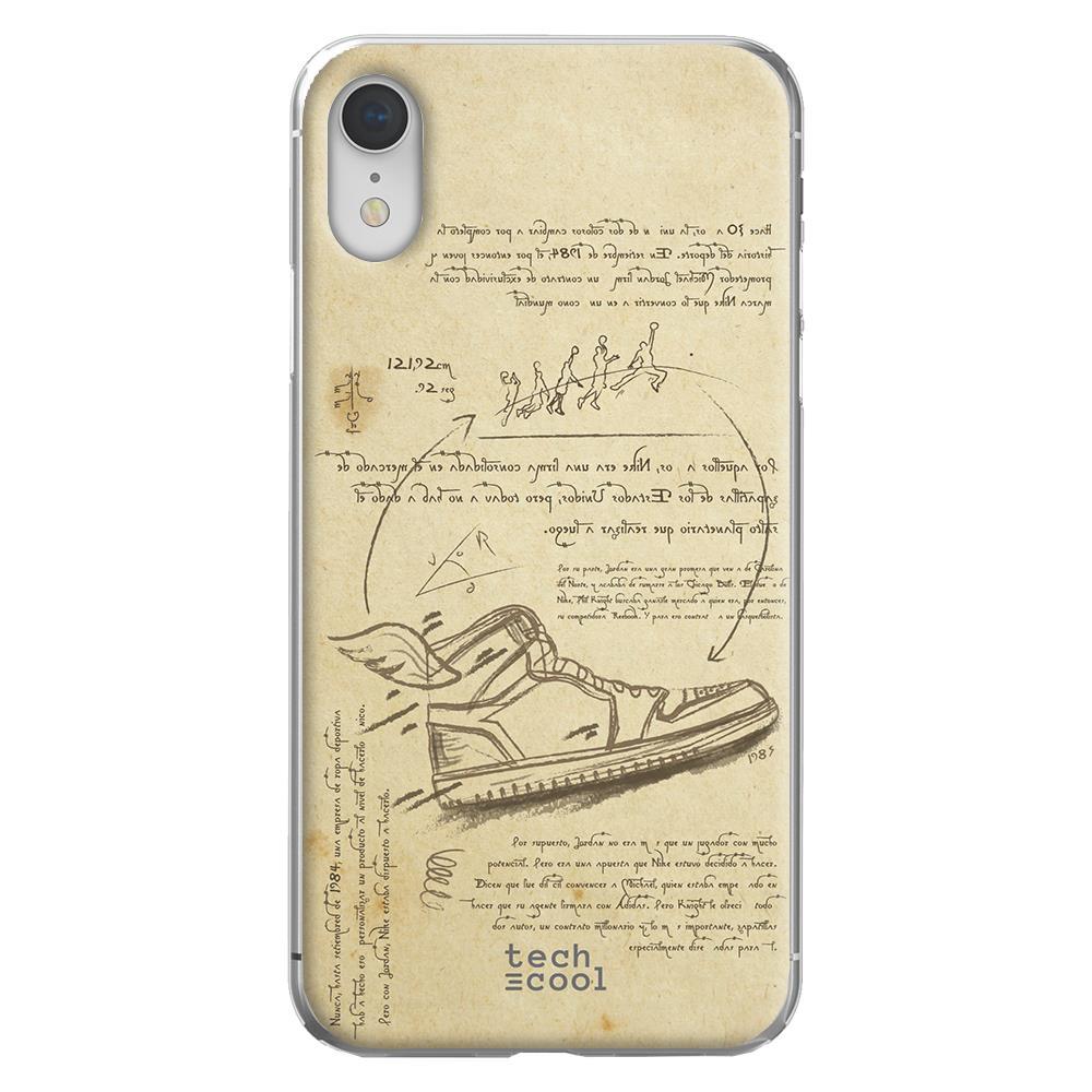 Techcool Custodia Per Iphone Xr L Cover Silicone Stile Di Design Air Jordan Da Vinci Eprice