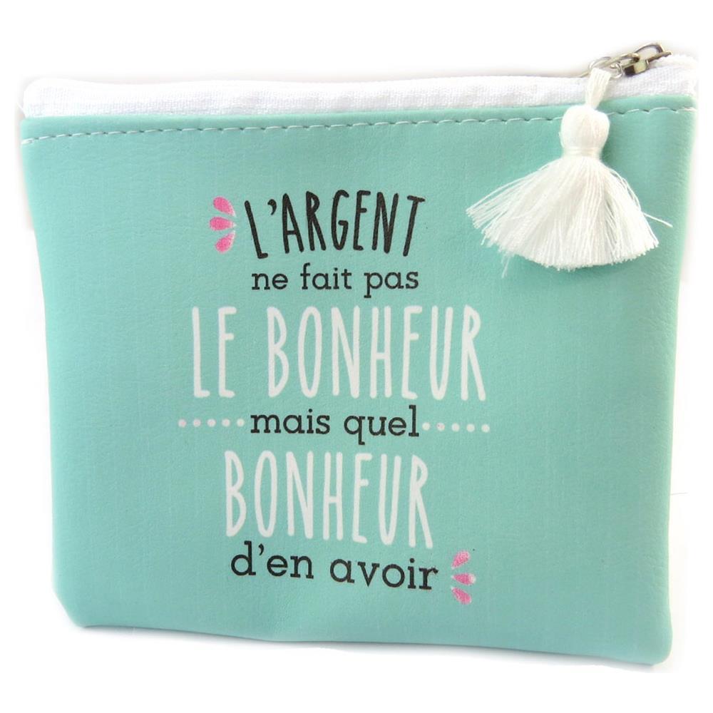 b7678fd405 Les Tresor De Lily - Wallet 'messages' (soldi Non Comprano La Felicite)  verde - 115x105 Cm - [ p2957] - ePRICE