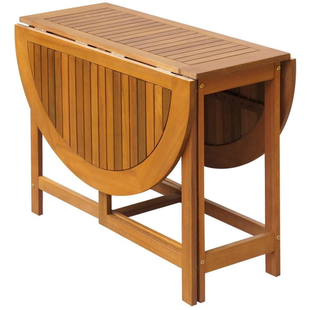 Tavolo Per Esterno Pieghevole.Vidaxl Tavolo Ovale Per Esterni Pieghevole In Legno Di Acacia Eprice