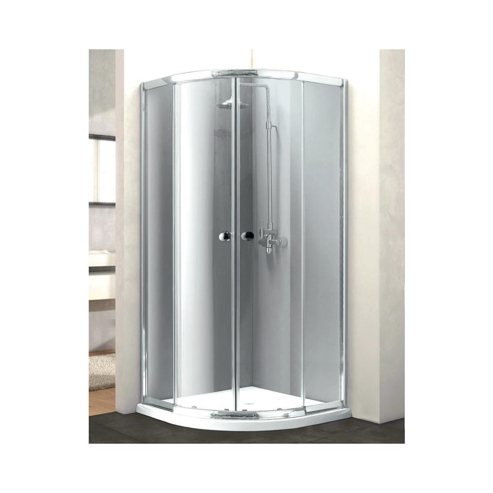 Box Doccia 80x80 Semicircolare.Showertech Box Doccia Semicircolare Vetro Perlato Temperato 6 Mm