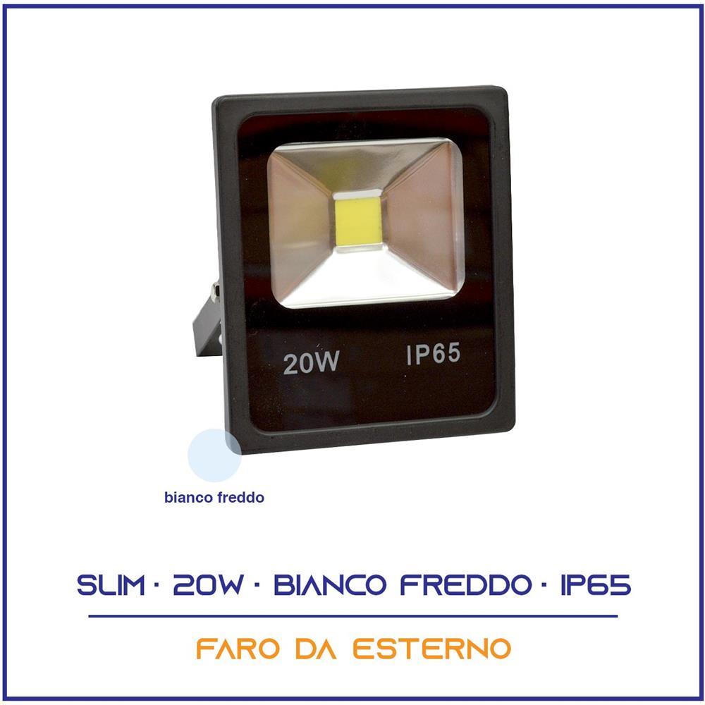 FARO FARETTO A LED DA ESTERNO 50W WATT LUCE BIANCA ALTA LUMINOSITÀ IP65