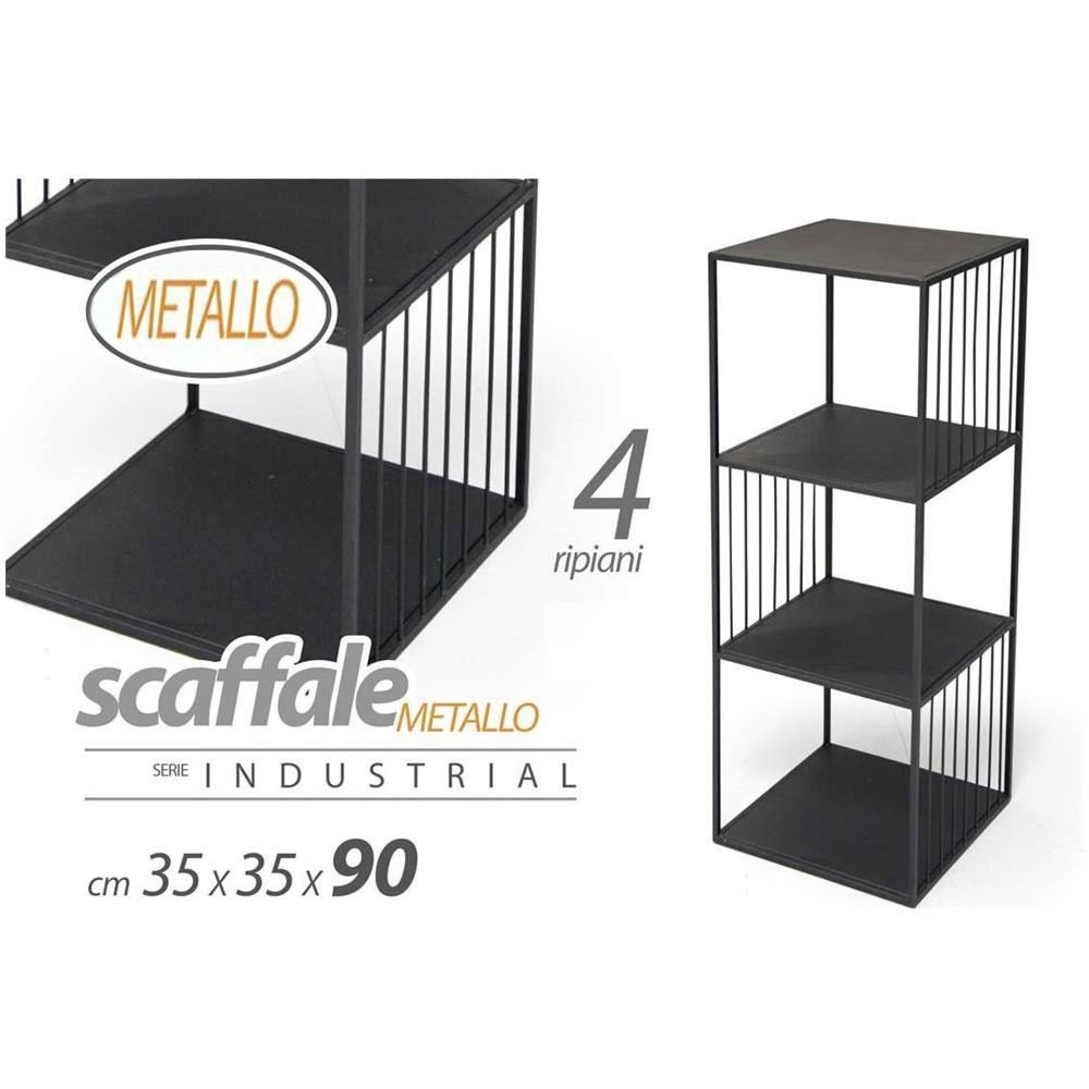 Vendita Scaffali Metallici Torino.Argonauta Scaffale In Metallo Nero Design Arredo Casa Cm 35 X 35