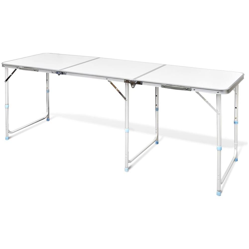 Tavolo In Alluminio Da Campeggio.Vidaxl Tavolo Da Campeggio Pieghevole Alluminio Altezza