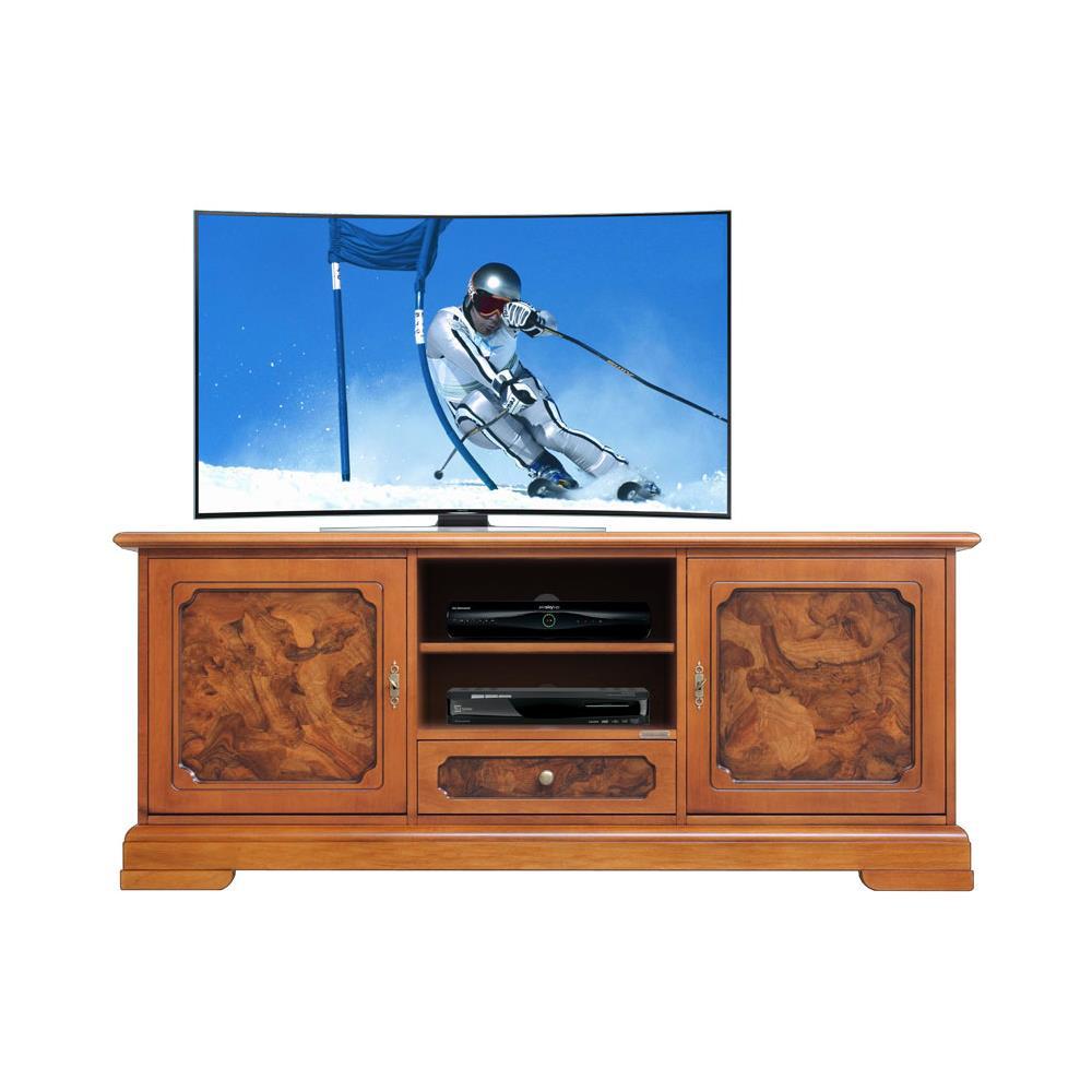 Arteferretto Porta Tv.Arteferretto Mobile Porta Tv In Legno Con Radica L 153 H 64 Cm