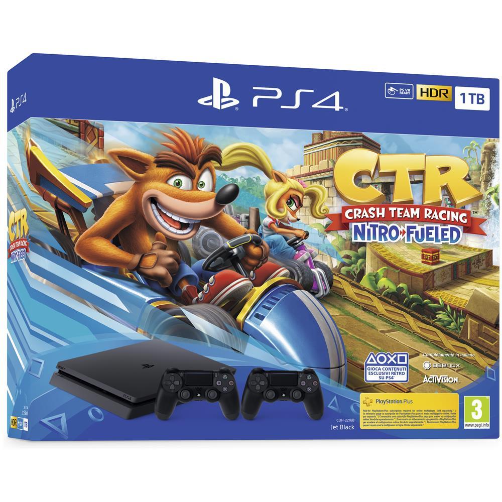 Console PlayStation 4 1TB + Crash Team Racing Nitro Fueled