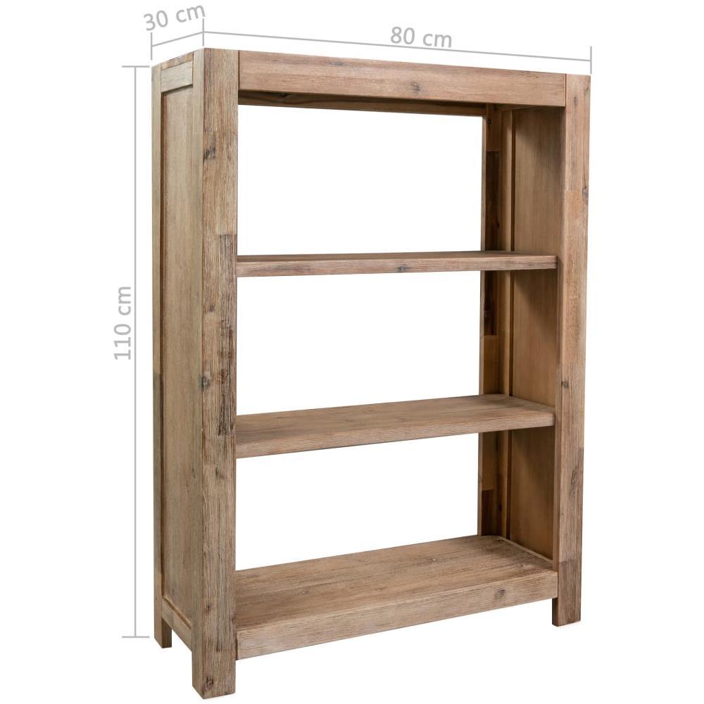 Libreria Per Libri Pesanti vidaxl libreria a 3 ripiani 80x30x110 cm in legno massello di acacia