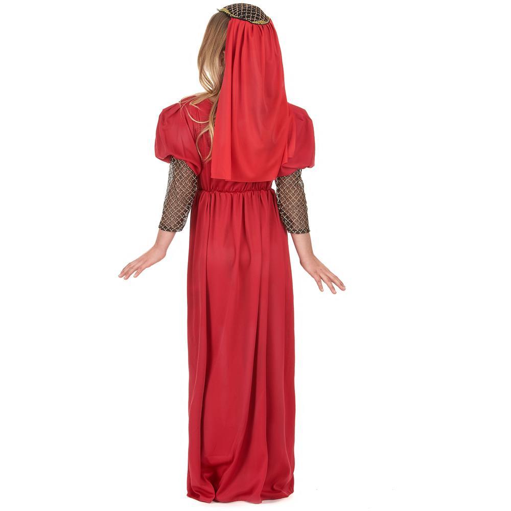 Juliet Rosso Abito Medievale Costume per adulti