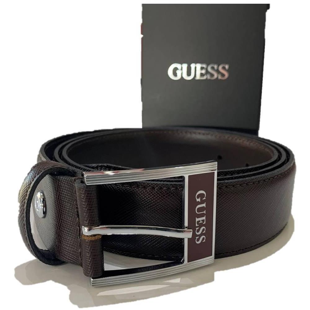 GUESS BM7260LEA30 BLA cintura belt uomo in pelle nero