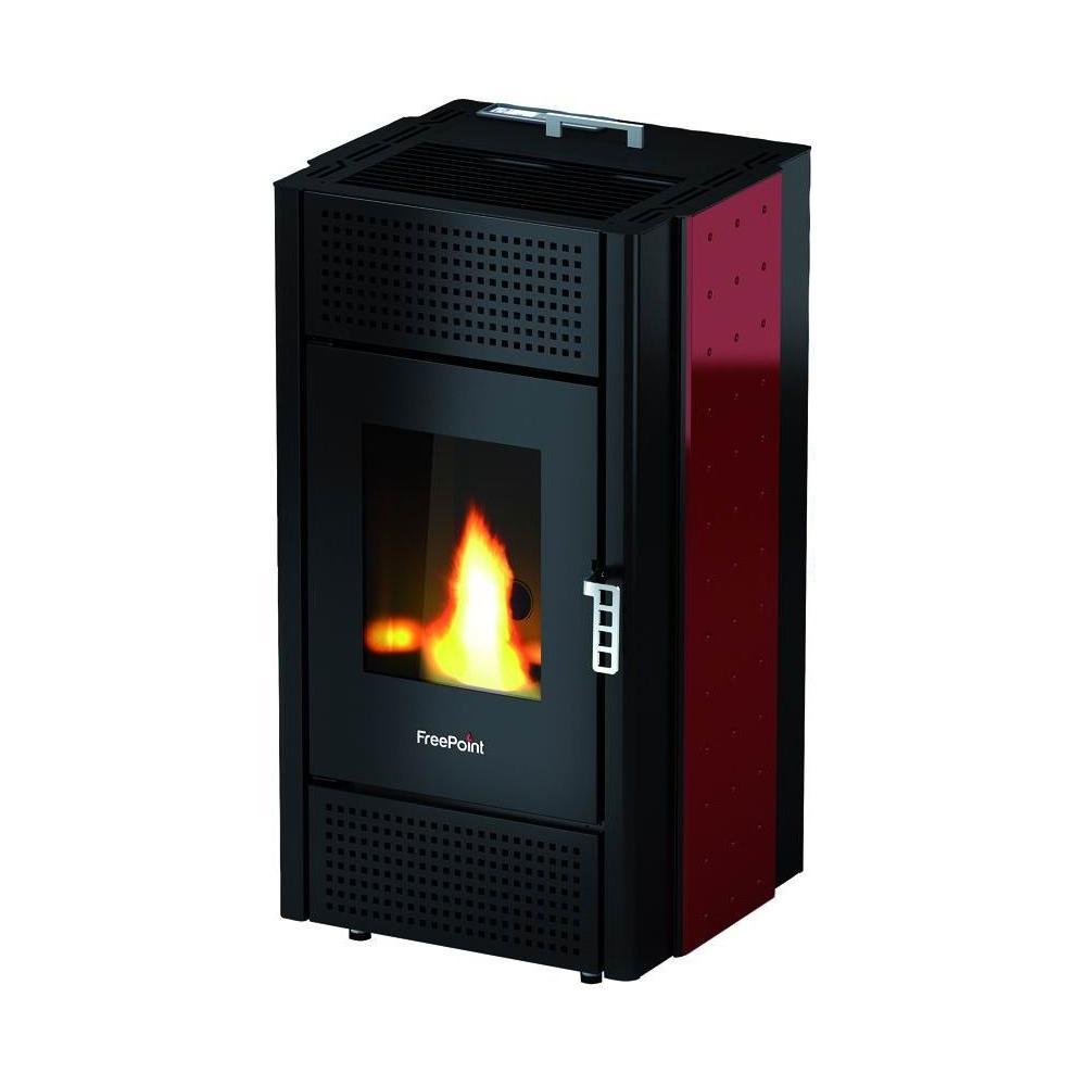 CADEL Stufa a Pellet Pretty Potenza Termica 8,5 kW 205 m³ Riscaldabili  Colore Nero / Bordeaux