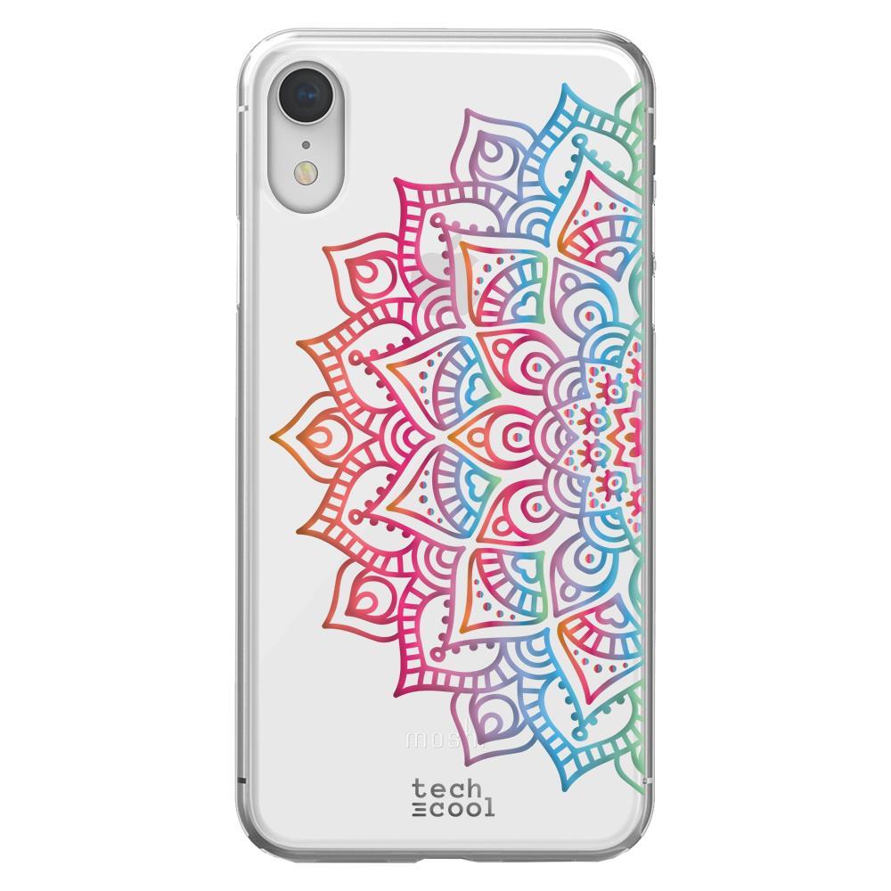 TECHCOOL Custodia Per Iphone Xr L Cover Silicone Disegno Geometrico Mandala Versetto 3
