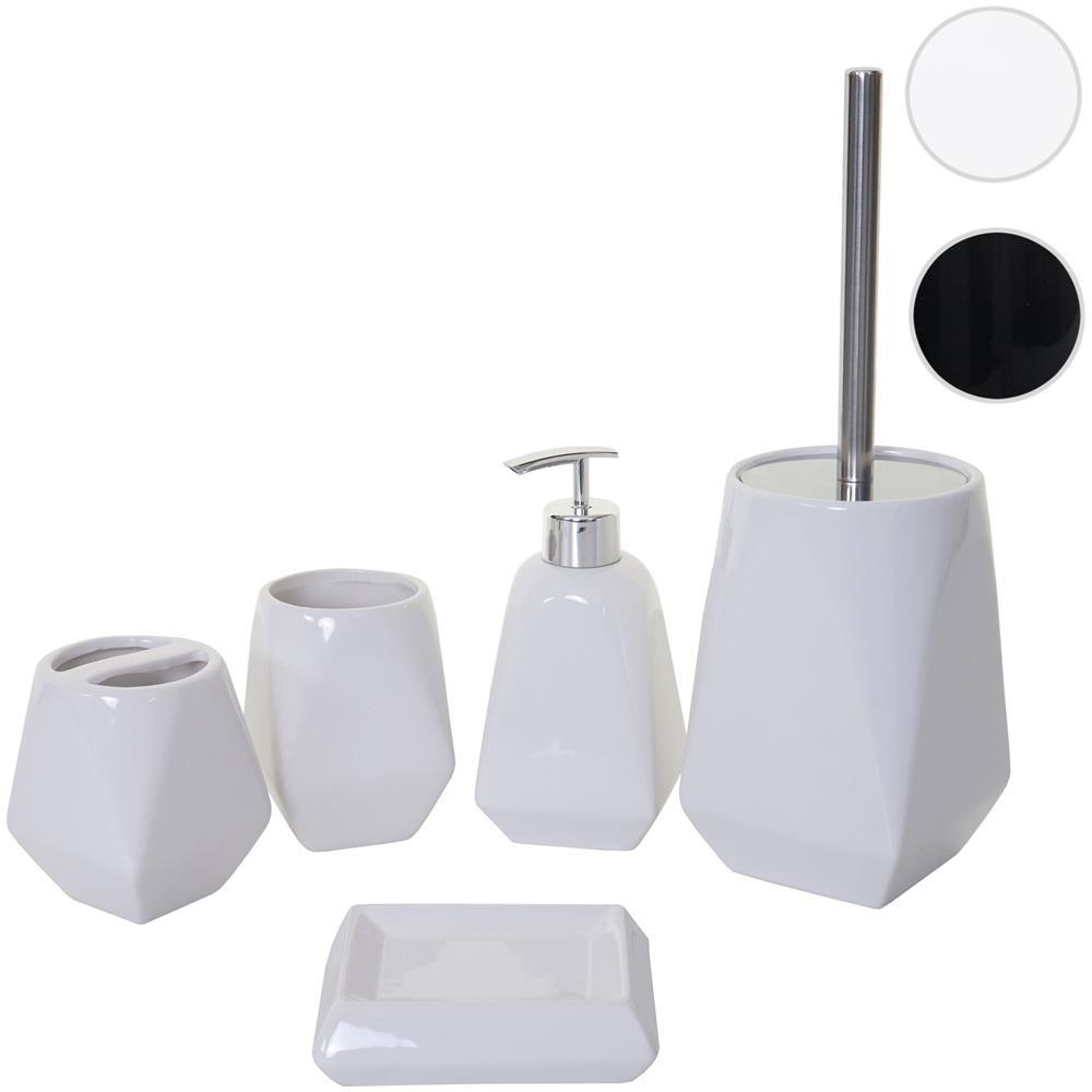 Accessori Bagno In Ceramica Bianca.Mendler Set Accessori Da Bagno Hwc C71 Ceramica Bianco