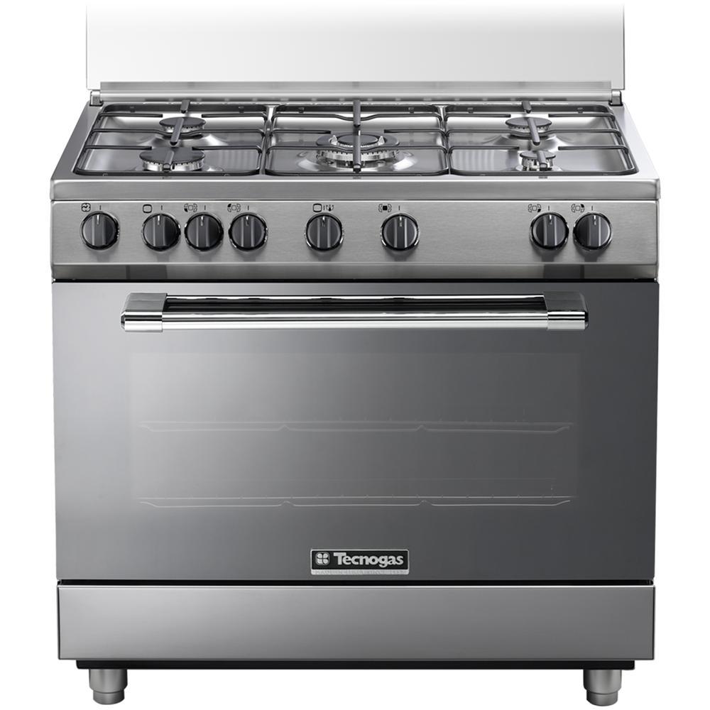 TECNOGAS - P965GVX Cucina a Gas 5 Zone Cottura con Forno a Gas ...