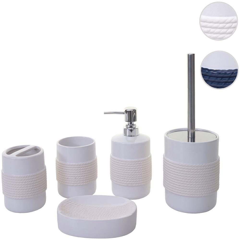 Arredo Bagno In Ceramica.Mendler Set Accessori Da Bagno Hwc C73 Ceramica Bianco Eprice