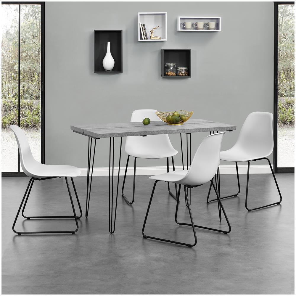 en.casa]® - Tavolo Da Pranzo Design Per 4 Persone - Effetto ...