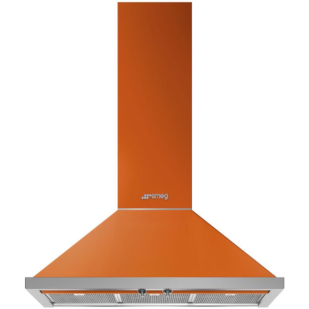 SMEG Cappa a Parete KPF9OR Aspirante 90 cm Colore Arancione