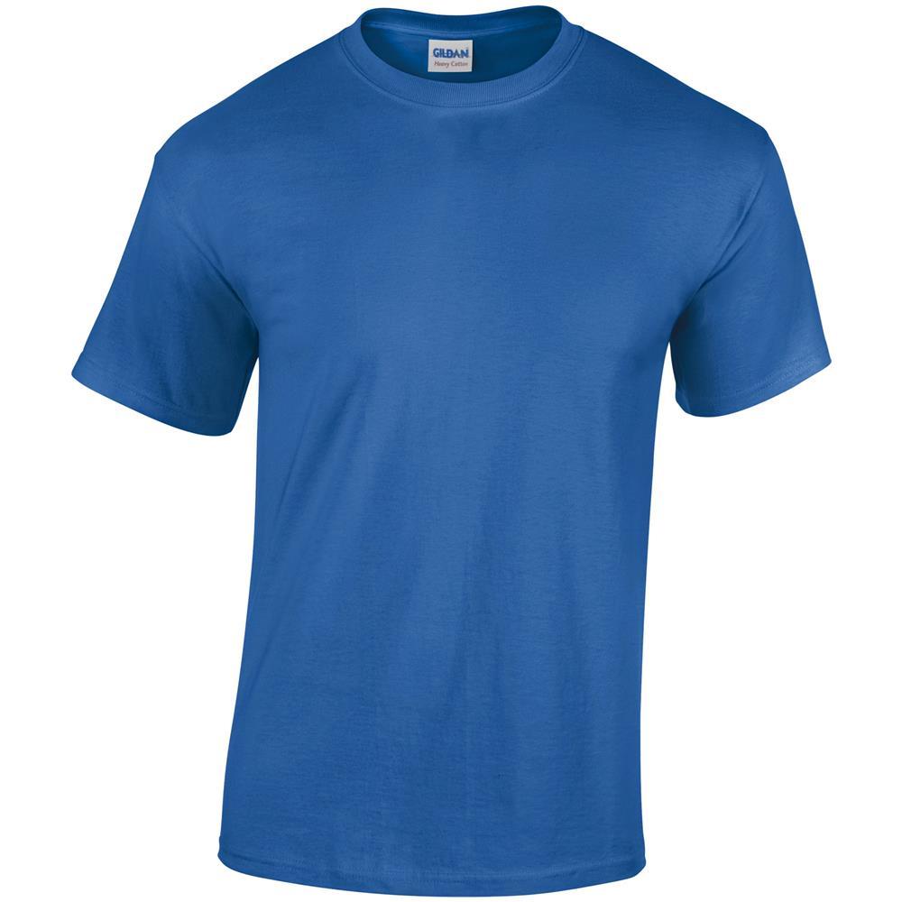 Corta Uomo Cotton Gildan blu Reale Maglietta Manica Heavy xl vR77pqcP