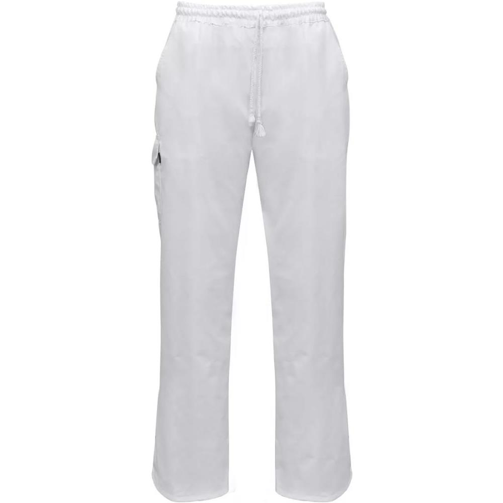 TOPSTAR - 2 Pz Pantaloni Da Cuoco Cintura Elastica Taglia S Bianchi ... a582deea24ac