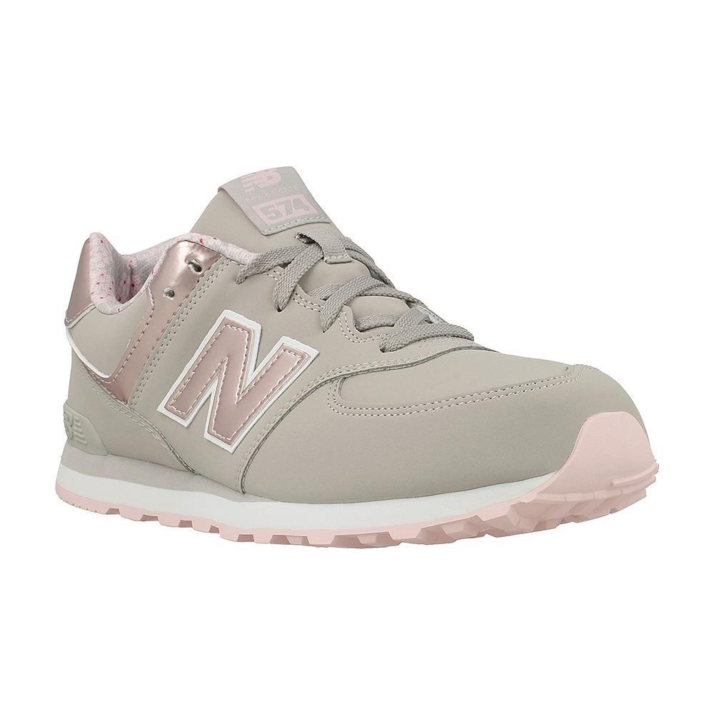 New Balance NBKL574F1GM050 KL574F1G beige scarpe basse